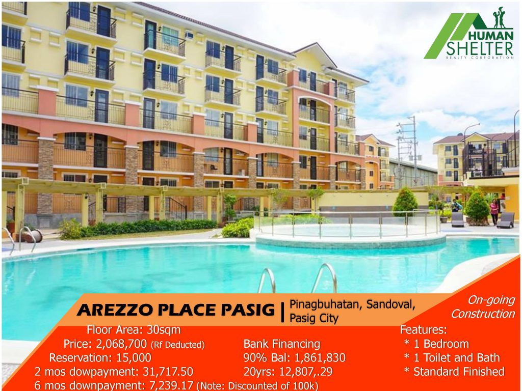 Arezzo Place Pasig | Human Shelter